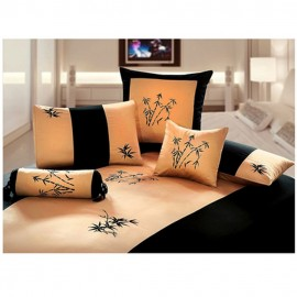 Zen Garden Gold Duvet and Sham Set - Queen Size