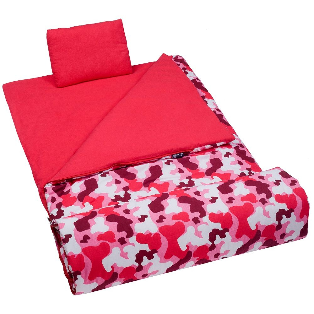 Olive Kids Bedding Camo Pink Sleeping Bag Kids