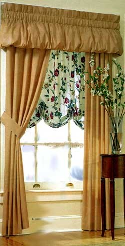 200 Thread Count Solid Color Balloon Valance Choose From