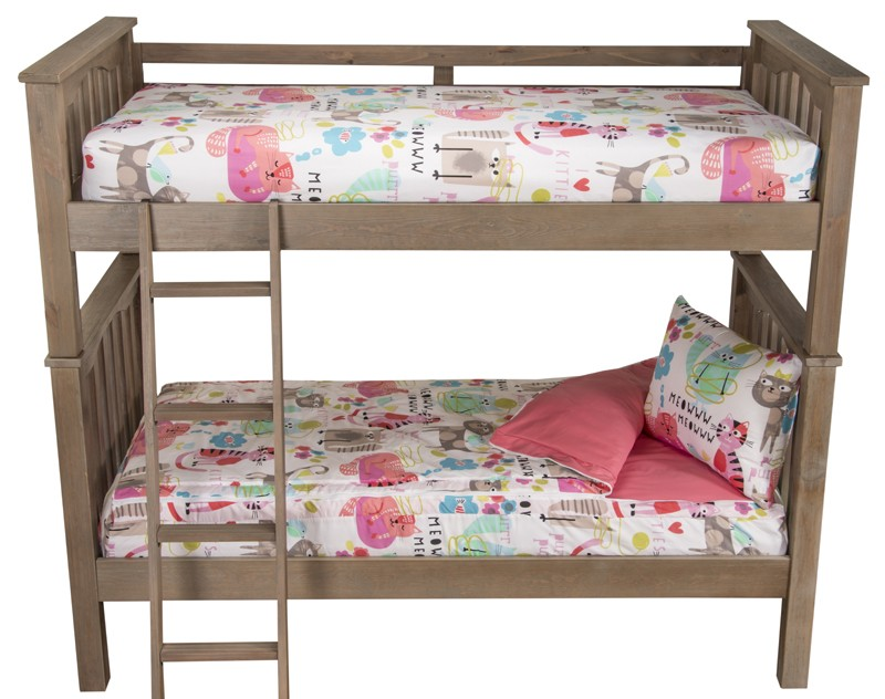 Twin Size 2 Piece Bunkie Set Zippered Bunk Bed Beddding