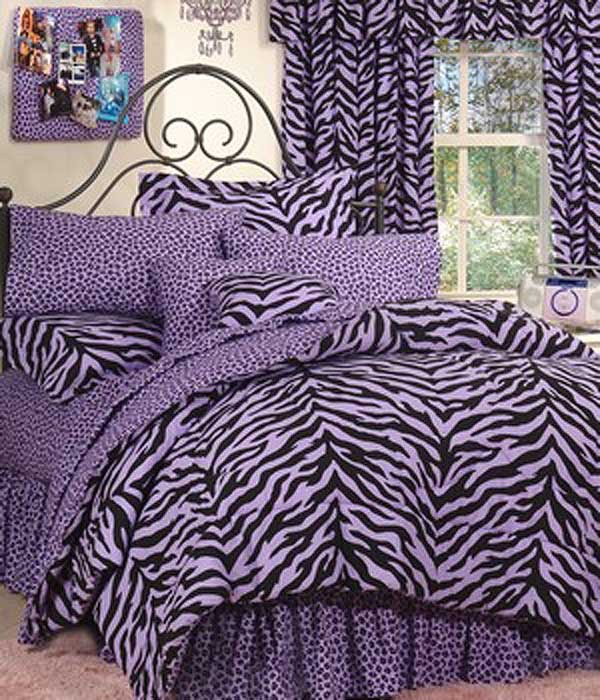 Zebra Print Dorm Room Bedding Extra Long Twin Size